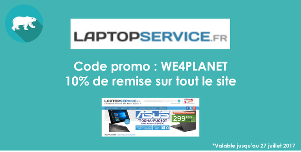 WE4PLANET - CODE DISCOUNT LAPTOPSERVICE B