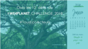 WE4PLANET CHALLENGE Janvier bleu